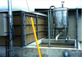 80℃の熱水による殺菌設備